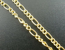 8SJ 8M Gold Plated Link Figaro Chain For Jewelry Necklace DIY Making 2x5mm