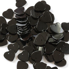 heart shaped drilled on the top beads Lot 125E Lot of 42 Onyx 12 mm x 12 mm flat