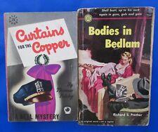 LOT of 2 Mystery Paperbacks D21 Richard S. Prather Thomas Polsky VG pulp