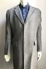 Hugo Boss Overcoat, Black & White Tweed, Size 42 Regular, Exc Condition
