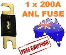 1 x 200AMP ANL Fuse for Dual Battery & Amplifier Wiring Kit Fuse Holders 200 A