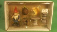 Fairy Garden, Miniature Garden Fairy Scene. Squirrel / Turtle / Gnome