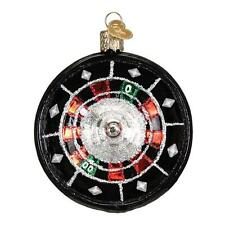 ROULETTE WHEEL OLD WORLD CHRISTMAS GLASS GAMBLING LAS VEGAS ORNAMENT NWT 44093