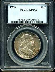 1956 50C Franklin Half Dollar MS66 PCGS 15650214