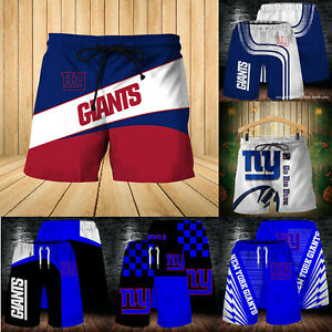 New York Giants Men Beach Board Shorts Quick Dry Swim Trunks Comfy Bathing Suits