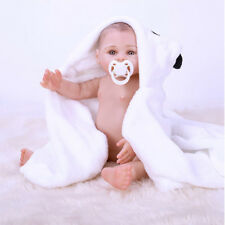 "17"" FULL BODY SILICONE Newborn Doll Real Lifelike Reborn Baby Dolls Xmas Gift"