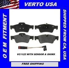 Verto USA Set Of Rear *Ceramic* Disc Brake Pads With Sensor For Mercedes VC1122S