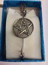 """Pentacle / Pentagram PP-G34 Pewter Emblem Kilt Pin Scarf or Brooch 3"""" 7.5 cm"""