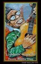 Lightnin' Hopkins Burnin' Houston Blues Posterby Cadillac Johnson