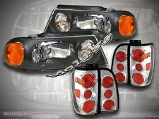 98 99 00 01 02 LINCOLN NAVIGATOR HEAD LIGHTS BLACK + TAIL LIGHTS CHROME