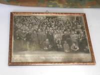 1941 ORIGINAL FRAMED GROUP PHOTO OF GERMAN ALLY WWI VETERANS