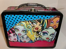 Freaky Fab-Monster High.Mattel.Raised Graphics`Metal Lunchbox`New-W/Tag`Free 2US