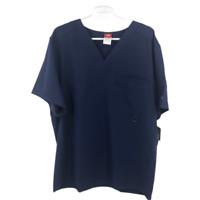 Dickies Mens V Neck Short Sleeve T Shirt Navy Blue Size Large NWT