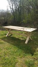 Rustic Shabby Chic Reclaimed X Base Dining table 6ft X 3ft
