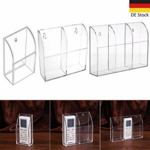 TV-Klimaanlage Fernbedienung Halter Acryl Wandhalterung Aufbewahrungsbox Klar