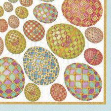 Imperial Eggs Easter Caspari paper table napkins 20 pack 33 cm sq 3 ply
