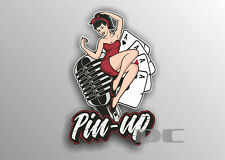 1x  Pin up Girls Vinyl Graphic, Sticker, Decal, Custom, Bike, Car ,Tuning #a0037