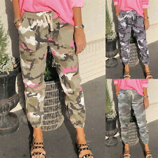 Womens Camo Sport Pants Joggers Military Army Combat Camouflage Casual Trousers