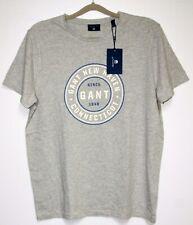 GANT Herren Logo T-Shirt  Grau  Größe L   Neu