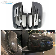 Carbon Fiber Replacement Mirror Covers Caps for Benz W176 A CLA45 AMG W246 W204