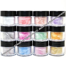MIA SECRET NAIL ART ACRYLIC POWDER 12 GLITTER ASSORTED COLORS MADE IN USA