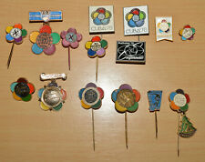 World Festival of Youth and Students 1957 1959 1962 1973 1978 1985 pin badge lot