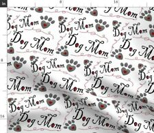 Dog Lover Mom Pet Decor Dogs Giftwrap Adoption Fabric Printed by Spoonflower Bty