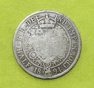 1894 Half Crown Silver VICTORIA 1837-01 (Combine Postage)