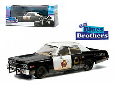 "1974 DODGE MONACO ""BLUESMOBILE"" BLUES BROTHERS MOVIE 1980 1/43 GREENLIGHT 86421"
