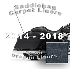 2014-2018 Harley Road Glide - One-Piece Carpet Saddlebag Liners ~Free Shipping