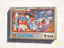Transformers (Nintendo Famicom, 1986) Japan Import NES