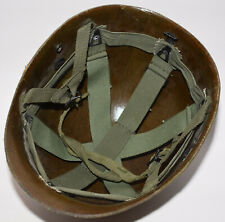 Original Vietnam War Us Airborne M1C Paratrooper Helmet liner + chincup no decal