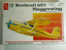AMT Beechcraft G17S Staggerwing business biplane sealed T638 1:48 NIB