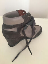 WOMEN MINELLI WEDGE HI TOP ANKLE LEATHER BOOTS SIZE 5