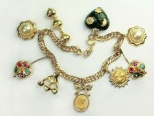 Assorted solid Charms Bracelets14k Gold Filled 8 inch artisan bracelet