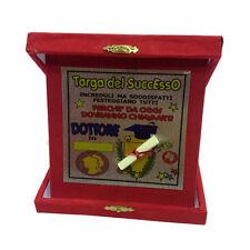 LAURE targa del successo dottore rossa personalizzabile 14x14 cm made in italy