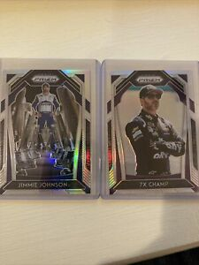 2020 Panini Prizm Racing Jimmie Johnson #6 #21 Variation Silver Prizm Set Of 2