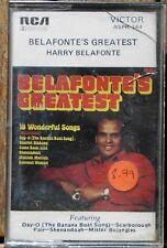 BELAFONTE'S  GREATEST      CASSETTE TAPE    (RETRO) (ASPK-144)    (86)