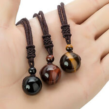 1pc Fashion Tigers Eye Gemstone Pendant Necklace Lucky Blessing Chakra Beads Hot