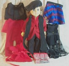 Doll Clothes Made2Fit American Girl 18 in Lot13 pcs Ice Skate Jumpsuit Black Red