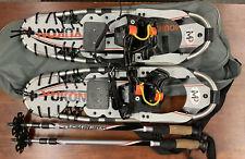 Yukon Charlie's Mountain Profile 8X25 Snowshoes Orange w/ Bag & Poles Men's