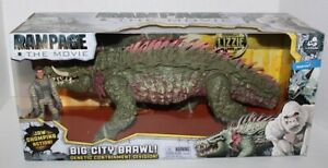 RAMPAGE MOVIE LIZZIE W/JAW CHOMPING ACTION & SPIKE ATTACK  WALMART EXCLUSIVE
