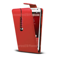 Leather Flip Case Cover Pouch + Stylus For Motorola Moto Various Phone Models