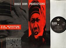 """BOOGIE DOWN PRODUCTIONS ya know the rules JIVE T 267 uk jive 1990 12"""" PS EX/VG"""