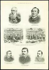 1885 - AFRICA SUDAN Huts on the Nile W S Perry Camel Corps  (156)