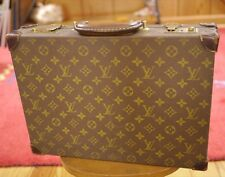 Vintage 1986 Louis Vuitton Hard Shell Leather Document Suitcase Briefcase 860549