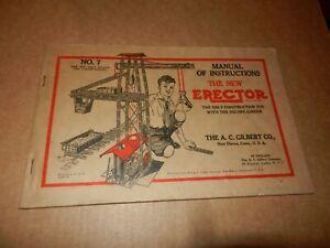 A C Gilbert Erector #7 Steam Shovel Set Manual,  1929 Vintage, Original