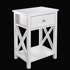 End Side Bedside Stand Table Nightstands Sofa Storage Furniture Drawer Shelf WH