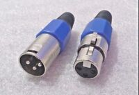 1 x Pair 3 pin XLR Plug and Socket