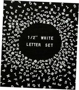 """Set of 326, 0.5"""" Plastic Letterboard Letters for Changeable 1/2 inch pcs White"""